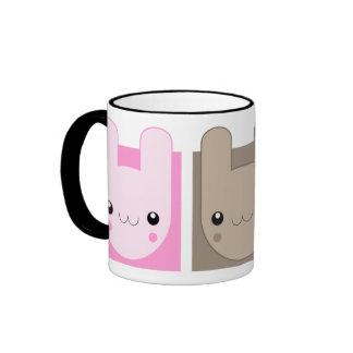 Kawaii Bunny Rabbit Trio v.02 Ringer Mug