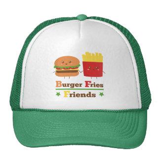 Kawaii Cartoon Burger Fries Friends BFF Cap