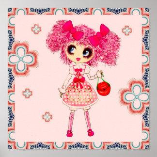 Kawaii Girl PinkyP Sweet Lolita so cute Poster