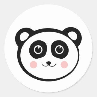 Kawaii Panda Round Sticker