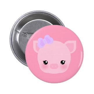 Kawaii Pig Buta-chan Pink Button