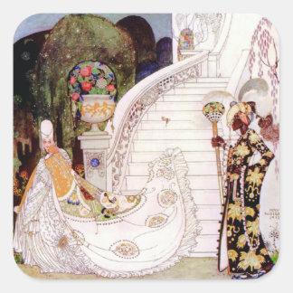 Kay Nielsen's Cinderella Fairy Tale Square Sticker