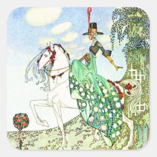 Kay Nielsen's Fairy Tale Princess Minotte Square Sticker