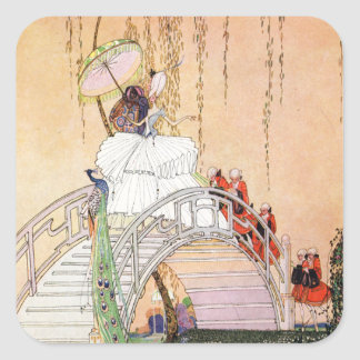 Kay Nielsen's Night In A Chinese Garden Square Sticker