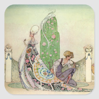 Kay Nielsen's The Princess and the Gardener Square Sticker
