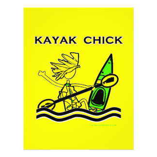 Kayak Chick Designs & Things 21.5 Cm X 28 Cm Flyer