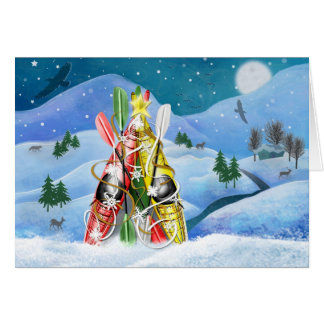 Kayak Christmas Tree - Wonders of Nature Note Card