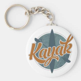 Kayak Emblem Basic Round Button Key Ring