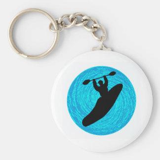 Kayak Main Lines Basic Round Button Key Ring