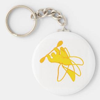 kayak Sunny Twisted Basic Round Button Key Ring