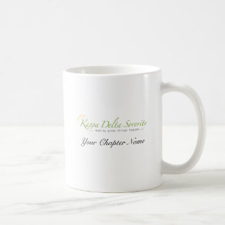 KD Sorority Logo Basic White Mug