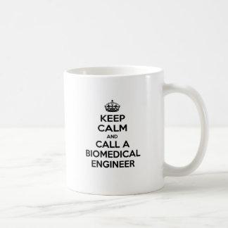 Keep Calm and Call a Biomedical Engineer Basic White Mug
