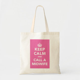Keep Calm and Call A Midwife Budget Tote Bag