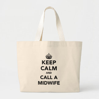 Keep Calm and Call A Midwife Jumbo Tote Bag