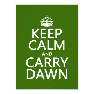 Keep Calm and Carry Dawn (any color) 14 Cm X 19 Cm Invitation Card