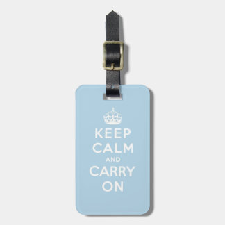 keep calm and carry on blue tags for luggage