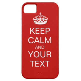 Keep Calm And Carry On Case For The iPhone 5