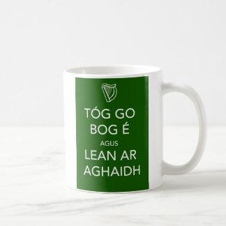 Keep Calm and Carry On IRISH Basic White Mug