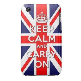 keep calm and carry on Union Jack flag iPhone 3 Case-Mate Case