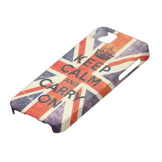keep calm and carry on vintage Union Jack flag iPhone 5 Cases