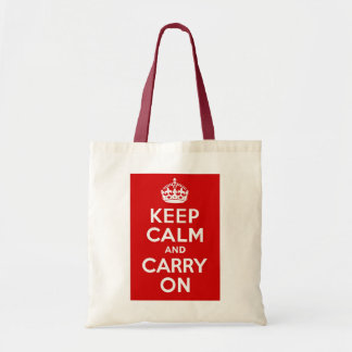 Keep Calm and Carry On ~ Vintage World War 2 Budget Tote Bag