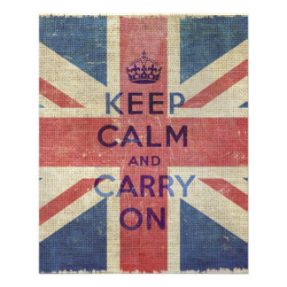 Keep Calm and Carry On with UK flag | Flyer