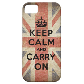 Keep Calm and Carry On with UK  Flag iPhone 5 Cover