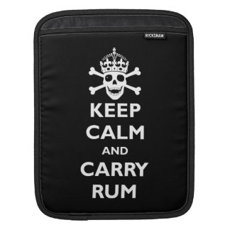 Keep Calm and Carry Rum Sleeves For iPads