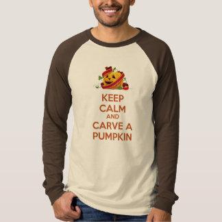 Keep Calm and carve a pumpkin T-shirt