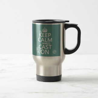 Keep Calm and Cast On - all colors Stainless Steel Travel Mug