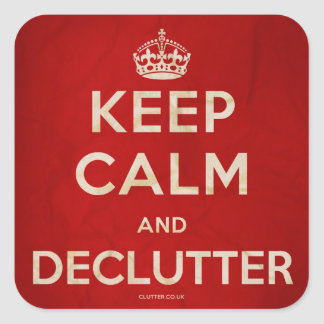 Keep Calm and Declutter Stickers