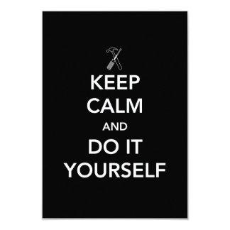 Keep Calm and Do It Yourself 9 Cm X 13 Cm Invitation Card