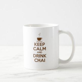 KEEP CALM AND DRINK CHAI BASIC WHITE MUG