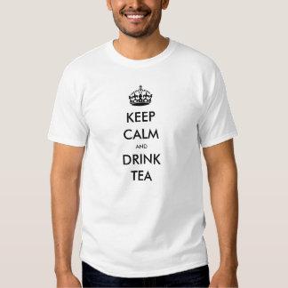 KEEP CALM AND DRINK TEA TSHIRTS
