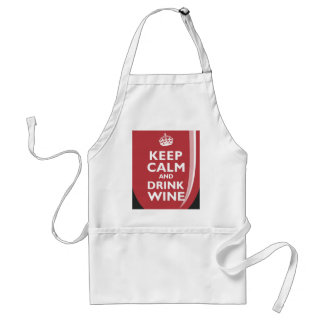 Keep Calm and Drink Wine Standard Apron