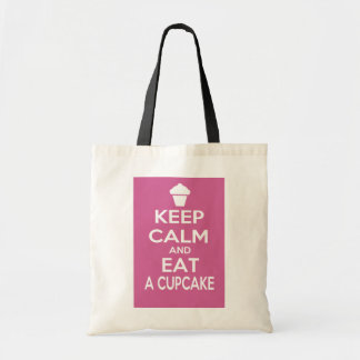 Keep Calm and Eat a Cupcake Budget Tote Bag
