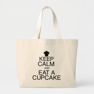 Keep Calm and Eat a Cupcake Jumbo Tote Bag