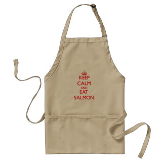 Keep calm and eat Salmon Standard Apron