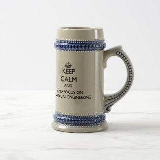 Keep calm and focus on Biomedical Engineering Beer Steins