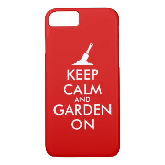 Keep Calm and Garden On Gardening Trowel Custom iPhone 7 Case
