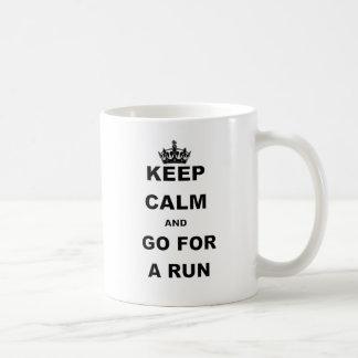 KEEP CALM AND GO FOR A RUN BASIC WHITE MUG