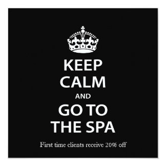Keep Calm and Go To the Spa 13 Cm X 13 Cm Square Invitation Card