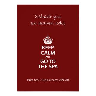 Keep Calm and Go To the Spa 13 Cm X 18 Cm Invitation Card