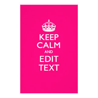 KEEP CALM AND Have Your Text on PINK 14 Cm X 21.5 Cm Flyer