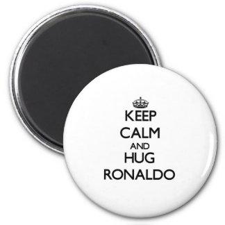 Keep Calm and Hug Ronaldo 6 Cm Round Magnet
