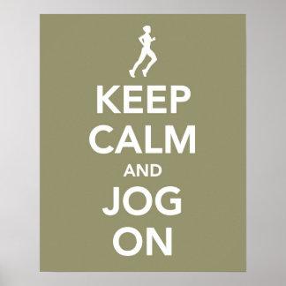 Keep Calm and Jog On poster