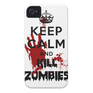 Keep Calm And Kill Zombies Funny Iphone 4S Case