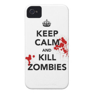 keep calm and kill zombies iPhone 4 cases