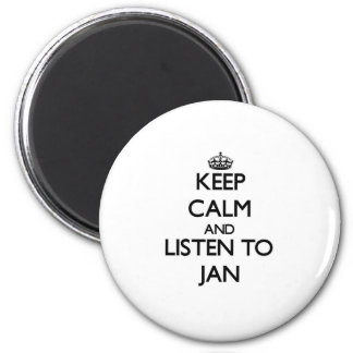 Keep Calm and Listen to Jan 6 Cm Round Magnet