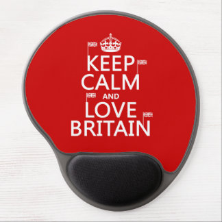 Keep Calm and Love Britain (customizable colors) Gel Mouse Pad